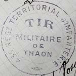 Tampon de la société de tir de Thaon